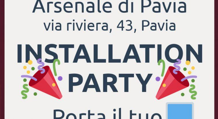 locandina arsenale installation party